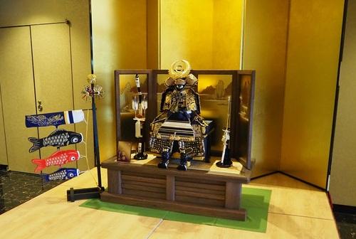 THE HAMANAKO様に、徳川家康公の鎧を展示しました。