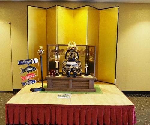 THE HAMANAKO様の鎧は2021年5月5日まで展示しております。